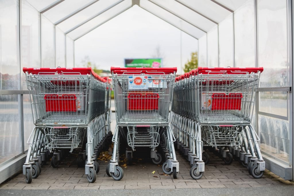 group of shopping carts